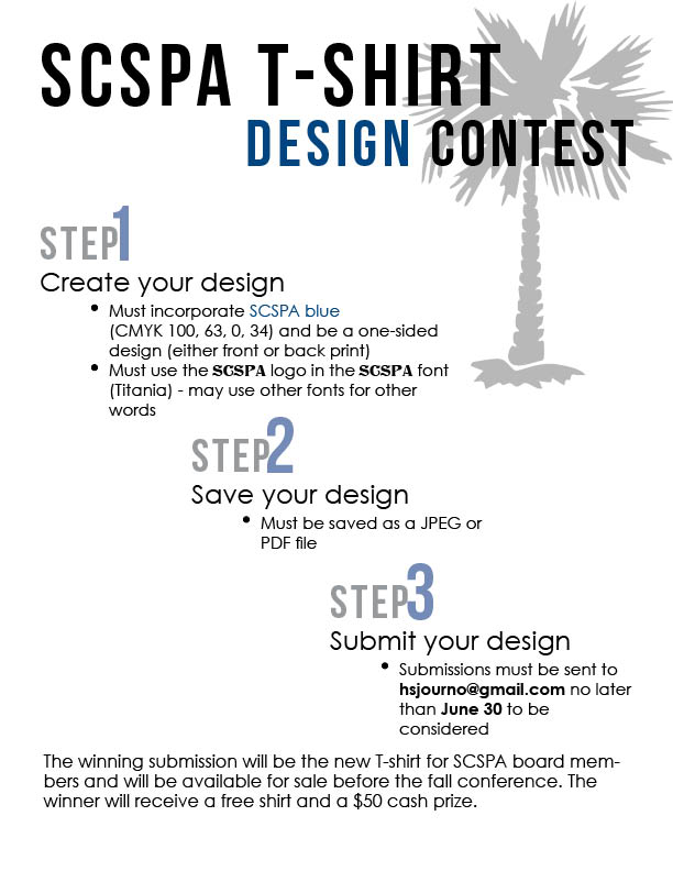 New SCSPA T-shirt design contest