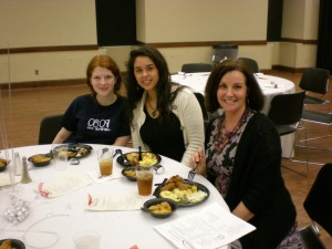 Marie Beverly, Maren Mabante, and Mabante's mom, Janet, attended Alabama Scholastic Press Association's 2012 convention luncheon. Beverly and Mabante were editors of the 2012-13 Huntsville HS paper and graduated with honors. Both won state awards for writing and design.